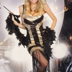 Flapper gangster mobster Halloween costume sequin